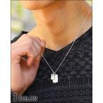 ネックレス メンズ  2連プレートデザインネックレス