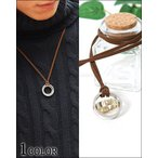 ネックレス ダブルリング アクセサリー メンズ ダブルリング英字デザインネックレス