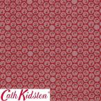 Cath Kidston キャスキッドソン 生地 コットンファブリック<Freston Rose Red>(フレストンローズ レッド)バラ FRESTON-ROSE