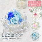 リングピロー 手作りキット Lucia ルチア 選べる2種 難易度1 ガラス 花 シンデレラ ハンドメイド ウェディング ブライダル 結婚式 結婚祝い 可愛い おしゃれ