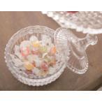 ガラス製 キャンディーポット   小物入れ ガラス コットンケース キャニスター キャンディーポット ガラスポット