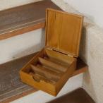 ホームステッド 木箱アンティーク風 マスキングテープボックス Sサイズ