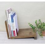 傾斜のあるブックスタンド azi-azi アジアジ アンティーク風 おしゃれ 木製 アンティーク風 ブックスタンド ブックエンド 卓上 本立て 本棚