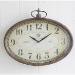 時計 掛け時計 アンティーク風 オテルビュー オーバルクロック コベントガーデン