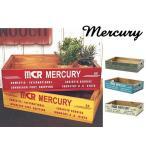 mercury マーキュリー リサイクルウッドクレート イエロー カーキ レッド ブルー ホワイト  小物整理 木箱 収納 ボックス BOX
