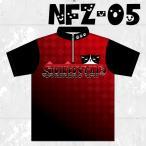 ボウリングウエア ジップシャツ 名入れ ボウリングウェア ネコ柄  NFZ-05 ストネコ