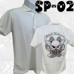 ボウリングウエア ポロシャツ 名入れ ボウリングウェア 練習着 ネコ柄 SP-02
