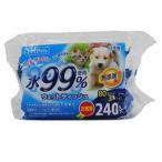 PPウエットティッシュ 3P ペット用 犬 猫 水だけ 天然消臭成分 緑茶エキス 消臭 保湿 ノンアルコール 弱酸性 無香料