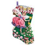 「Sugar Plum Fairy」《日本語基本ガイド付き》Bucilla  ブシラ クリスマス ハンドメイド フェルト くつ下 ソックス  ストッキング キット アップリケ