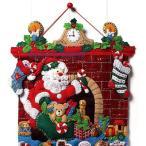「Must Be Santa」《日本語基本ガイド付き》Bucilla  ブシラ クリスマス ハンドメイド フェルト アドベントカレンダーキット アップリケ