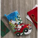 「Christmas  Drive」《日本語基本ガイド付き》Bucilla  ブシラ クリスマス ハンドメイド フェルト くつ下 ソックス  ストッキング キット アップリケ