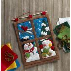 「WINTER WINDOW WALL HANGING」《日本語基本ガイド付き》Bucilla ブシラ クリスマス ハンドメイド フェルト キット アップリケ