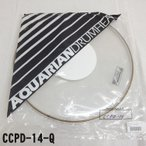 アクエリアン ドラムヘッド(クリアヘッド)(AQUARIAN)タムタム用CCPD-14-Q(CCPD14Q)14インチサイズ(ドット付き)【TH】