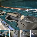 エレキバイオリン ハルシュタット EV30 SBK 4/4 入門 9点セット(サテンブラック/黒色)
