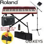 ケース付 ローランド Roland 電子キーボード GO KEYS (小型アンプ・キーボードスタンドセット)