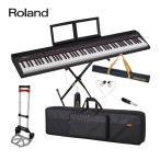 持ち運び楽々 Roland ローランド 電子キーボード GO PIANO 88 (折りたたみキーボードスタンドセット)