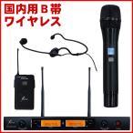 SOUNDPURE ワイヤレスハンドマイク1本+黒色ヘッドマイク1本付き ワイヤレスシステム