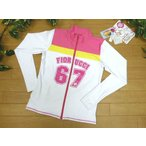 ラッシュガード レディース (送料無料) 長袖 11L FIORUCCI (フィオルッチ) 67ロゴ ピンク 白