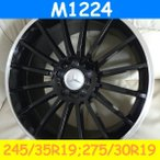 W211,W220,W215対応 M1224(245/35,275/30R19) (19インチ,ブラック,ホイール,タイヤ,1台分)