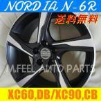 ボルボ XC60(DB系),XC90(CB系)対応 ノルディアN-6R(235/60R18) (18インチ,マットブラック,ホイール,タイヤ,1台分)