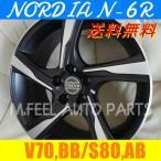 ボルボ V70(BB系),S80(AB系)対応 ノルディアN-6R(245/40R18) (18インチ,マットブラック,ホイール,タイヤ,1台分)