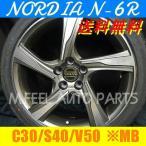ボルボ C30,S40,V50(MB系)対応 ノルディアN-6R(215/45R18) (18インチ,ガンメタリック,ホイール,タイヤ,1台分)