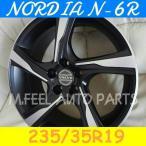 ボルボ S60(FB系),V60(FB系),S80(TB系)対応 ノルディアN-6R(235/35R19) (19インチ,マットブラック,ホイール,タイヤ,1台分)