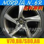 ボルボ V70(BB系),S80(AB系)対応 ノルディアN-6R(245/35R19) (19インチ,ガンメタリック,ホイール,タイヤ,1台分)