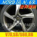 ボルボ V70(SB系),S60(RB系)対応 ノルディアN-6R(225/35R19) (19インチ,ガンメタリック,ホイール,タイヤ,1台分)