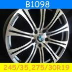 BMW E63,E64,E60,E61対応 B1098(245/35,275/30R19) (19インチ,ダークグレー,ホイール,タイヤ,1台分)