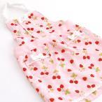 【スキップガーデン】 子供 エプロン 三角巾付き 苺柄 110cm