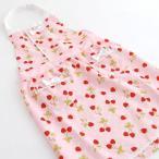 【スキップガーデン】 子供 エプロン 三角巾付き 苺柄 130cm