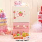 ままごと 冷蔵庫 木製 おままごとセット 野いちご プチ冷蔵庫 キューティー柄 小物17点付き 完成品 キッチン冷蔵庫 木のおもちゃ 木のおままごと