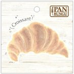 PANBUNGU パンのダイカットふせん 25枚 クロワッサン b116 5個セット〔代引き不可〕 トレード