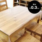ビニールカーテン コロナシールド テーブル クロス カバー 透明 汚れ防止 防水 撥水 4人掛け120cmx150cmx0.3mm厚【176010】