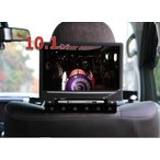 HDMI対応☆10.1インチヘッドレストモニターキット/黒タッチボタン