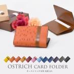 オーストリッチ 本革 名刺入れ カード入れ パスケース レディース メンズ 小さい 薄い 本皮 リアルレザー ダチョウ 駝鳥  プレゼント ラッピング 送料 無料
