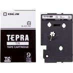 テプラ TR テ−プ TC9S 白に黒文字 9mm