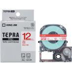 テプラ PRO用テープカートリッジ 白ラベル SS12R [赤文字 12mm×8m]