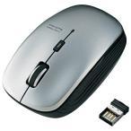 ワイヤレスLEDマウス M-BL21DBSV 灰