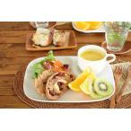 白い食器 Newカフェモーニングランチプレート ホワイトレベル2【美濃焼/食器/エムズ/訳あり/アウトレット込み/スクエア/陶器/おしゃれ】