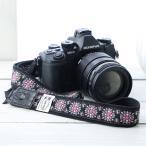 Yahoo Shopping - カメラストラップ camera strap 一眼レフ ミラーレス一眼用 チロリアン カレイドスコープスミレフリータイプ