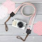 Baby, Kids, Maternity - カメラストラップ camera strap 一眼レフ ミラーレス一眼用 ピンクポンポンスカラップ