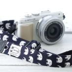 Consumer Electronics - カメラストラップ camera strap 一眼レフ ミラーレス一眼用 ハッピーエレファントネイビー フリータイプ