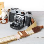 Yahoo Shopping - カメラストラップ camera strap ワンタッチタイプ 一眼レフ ミラーレス一眼用 レースベージュ