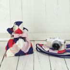 カメラ女子♪ミラーレス一眼カメラが入る!かわいいラッピングクロス「カメラのくるみん」 ネコとかくれんぼ