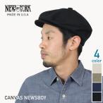 NEW YORK HAT ニューヨークハット Canvas Newsboy コットンハンチング キャスケット ブラック カーキ ナチュラル メンズ 帽子 #6218