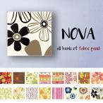 ファブリックパネル Sサイズ 30cm × 30cm 北欧 花柄 フラワー かわいい 北欧 オレンジ イエロー ネイビー コスモス 生花 アロハ