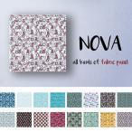 ファブリックパネル Sサイズ 30cm × 30cm 北欧 かわいい デザイン アニマル  水色 シンブル ブルー しか バンビ フラワーデザイン