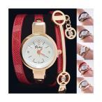3重巻きベルト レディース ブレスレッド腕時計 アナログ ウォッチ ケース付き レディース 腕時計 おしゃれ 女性 アナログ レディース腕時計 ブレスレッド レザー